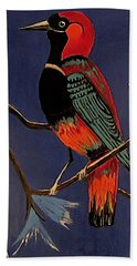Bird On A Branch Beach Towel