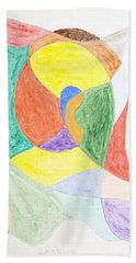 Beach Towel featuring the painting Duck by Stormm Bradshaw