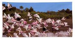 Birds Call To Flight Beach Sheet