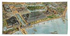 Bird's Eye View Of The World's Columbian Exposition Chicago 1893 Beach Towel