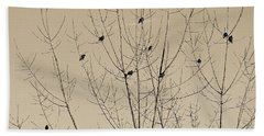 Birds Gather Beach Towel