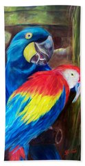 Bird's Of A Feather, Macaws Beach Towel