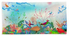 Birds Of My Landscapes - Limited Edition  Of 15 Beach Sheet