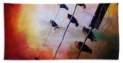 Birds On A Wire Beach Sheet