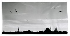 Birds Over The Golden Horn Beach Towel