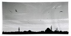 Birds Over The Golden Horn Beach Sheet