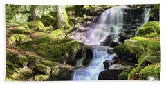 Birks Of Aberfeldy Cascading Waterfall - Scotland Beach Towel