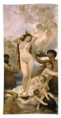Birth Of Venus Beach Towel by William Bouguereau