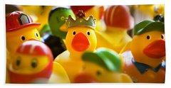 Birthday Ducks Beach Sheet