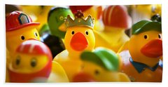 Birthday Ducks Beach Towel