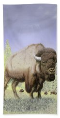 Bison On The Range Beach Towel