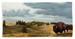 Bison  Wind Cave Park  South Dakota Beach Towel