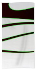 Beach Towel featuring the photograph Black And Green by Joe Kozlowski