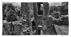 Black And White Castle Beach Towel