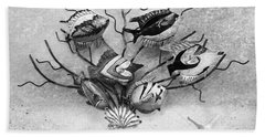 Beach Towel featuring the photograph Black And White Fish 1  by Betty LaRue