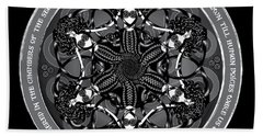 Black And White Gothic Celtic Mermaids Beach Sheet