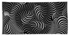 Black And White Illusion Beach Towel
