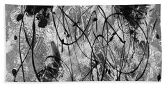 Black And White Beach Sheet by Nancy Merkle