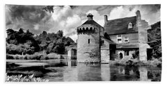 Scotney Castle In Mono Beach Towel