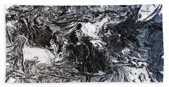 Black And White Series 3 Beach Towel