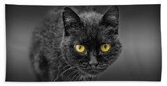 Black Cat Beach Towel