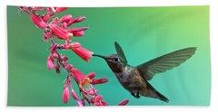 Black Chinned Hummingbird Beach Sheet