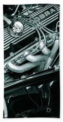 Black Cobra - Ford Cobra Engines Beach Towel by Steven Milner