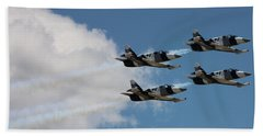 Black Diamond L-39s In Flight Beach Towel