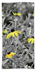 Black-eyed Susan Field Beach Towel by Carolyn Marshall
