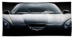 Black Grand Sport Corvette Beach Towel