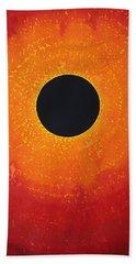 Black Hole Sun Original Painting Beach Sheet