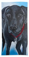 Black Lab Beach Sheet by Leslie Manley