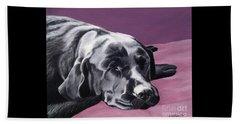 Black Labrador Beauty Sleep Beach Sheet