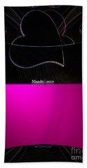 Black Pink Luv Beach Sheet