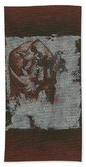 Black Rhino Beach Towel