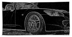 Black S2000 Beach Towel