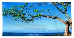Black Sand Beach Beach Towel by Kristine Merc