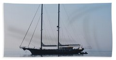 Black Ship 1 Beach Towel by George Katechis