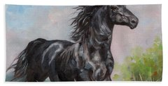 Black Stallion Beach Towel
