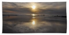 Black Sunset Beach Towel by Gandz Photography