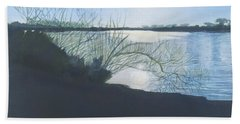 Black Swan Lake Beach Sheet by Joanne Perkins