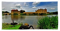 Black Swans At Leeds Castle II Beach Towel