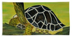 Black Turtle. Inspirations Collection. Beach Sheet