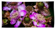 Beach Towel featuring the photograph Blackberry Flower by Edgar Laureano
