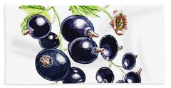 Blackcurrant Berries  Beach Towel by Irina Sztukowski