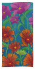 Blanket Flowers And Cosmos Beach Sheet