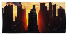 Blazing Morning Sun Beach Towel