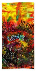 Blessed Beyond Measure Beach Sheet by Angela L Walker