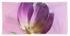 Beach Towel featuring the photograph Blissfully Purple by Betty LaRue