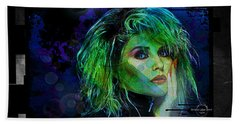 Blondie - Debbie Harry Beach Towel by Absinthe Art By Michelle LeAnn Scott